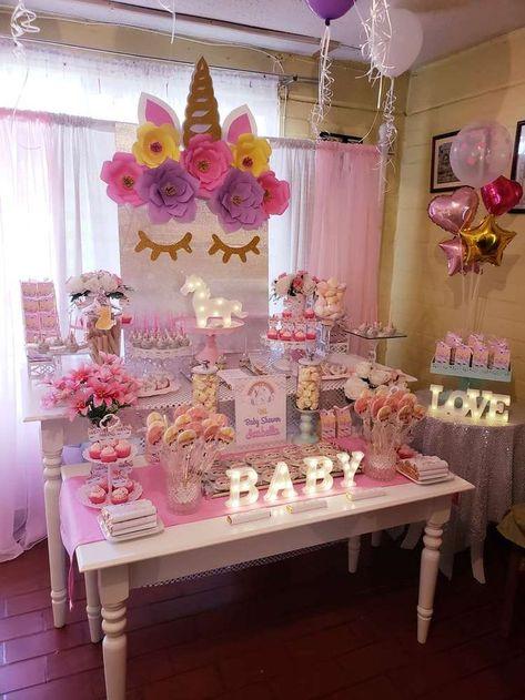 Unicornios Babyparty Party Ideen Babyparty Baby Shower Deko