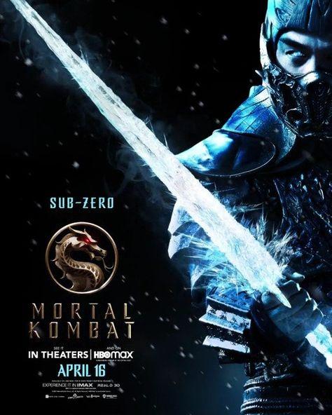 Sub Zero Em 2021 Sub Zero Mortal Kombat Mortal Kombat Posteres De Filmes