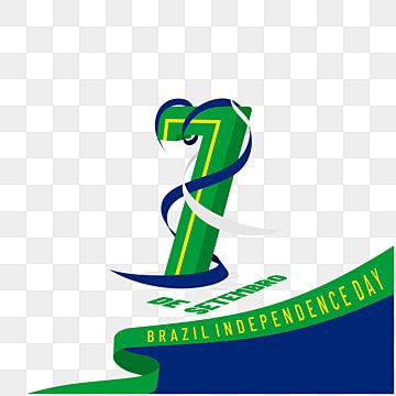 Typography Of Number 7 For Brazil Independence Day Brasil Day Independence Png And Vector With Transparent Background For Free Download Independence Day Typography Prints For Sale