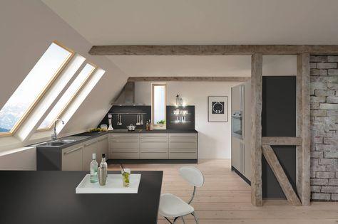 Moderne keuken onder schuin dak Perfecte keuken voor in een loft - wellmann küchenschränke nachkaufen