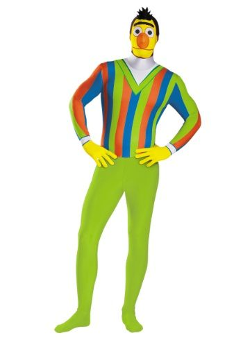 Adult Deluxe Sesame Street BERT Fancy Dress Costume Mens Size XL by Disguise