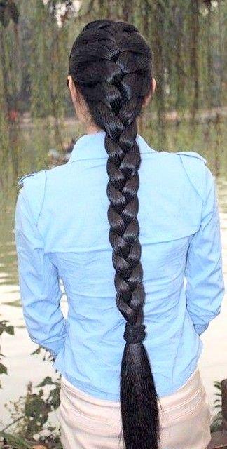 Silky Shining Braid In 2020 Long Indian Hair Indian Long Hair Braid Really Long Hair