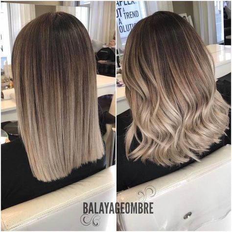 Love That Ash Blonde Color With The Dark Roots And Slightly Layered Bob Pinterest Qqueennvee Short Hair Balayage Hair Styles Long Hair Styles