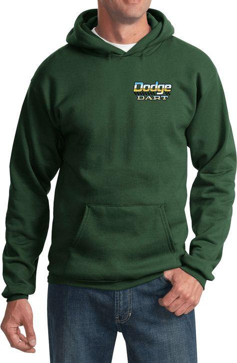 Mens Dodge Blue Charger Pocket Print Full Zip Hoodie