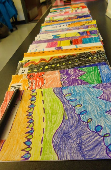 Mini Matisse: Line Portfolio for 1st grade students.