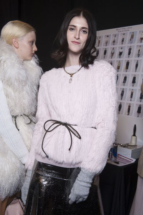 Plush in pink at the MILLY Fall 2014 Runway Show