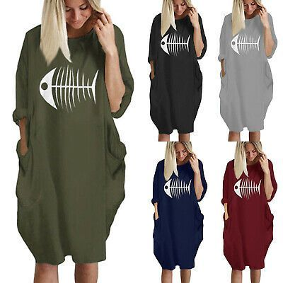 Womens Oversized Jumper Mini Dress Ladies Baggy Long Sleeve Pullover Tunic Tops