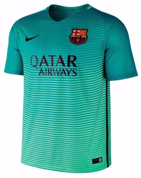 b052a9672 FC Barcelona Third 16-17 Season  10 Messi Green Soccer Jersey  J182 ...