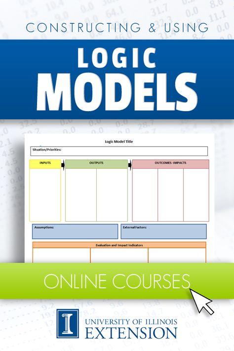 logic model template Work it Pinterest - logic model template