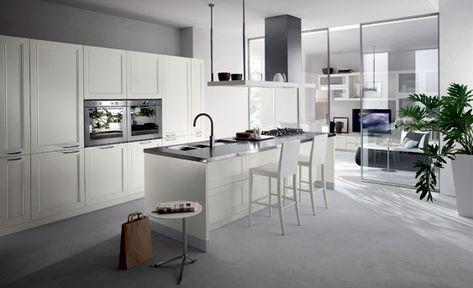 Küche Scavolini Kleine Räume Beige Hochglanz U Form Essbereich   Neue  Wohnung   Pinterest   Hochglanz, Form Und Raum
