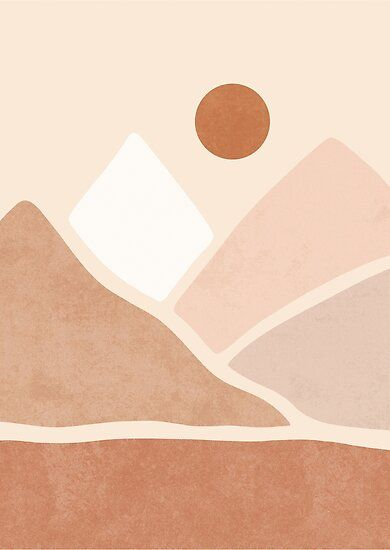 Neutral Boho Mountain Sun Poster By Miss Belle Boho Painting Boho Wallpaper Boho Wall Art