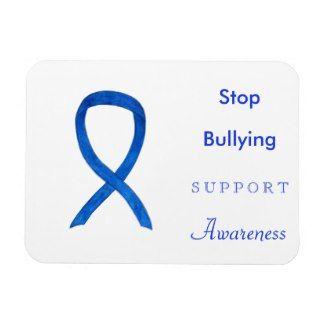 Bullying Prevention Blue Awareness Ribbons Custom