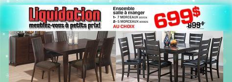 Liquidation De Meubles Surplus Rd Mobilier De Salon Salle A Manger Ensemble