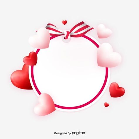 Valentines Day Elements With Red And White Heart Love Circular Borders Valentine Lovely Business Png Transparent Clipart Image And Psd File For Free Download Valentines Day Border Valentines Engagement Cards
