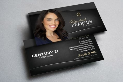 New Century 21 Business Cards Are Ready Realtor Century21 Realestate Realtors R Realtor Business Cards Real Estate Business Cards Company Brochure Design