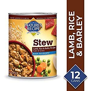 Nature S Recipe Lamb Rice Barley Recipe Stew Wet Dog Food 13 2 Ounces Pack Of 12 Easy To Digest Dog Food Recipes Food Barley Recipe