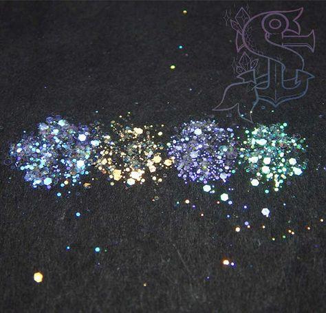 """Set """"Winter is coming"""" Mix glitter resistenti ai solventi - 4x4gr nail art, ricostruzione unghie, resina trasparente, arcobaleno"""