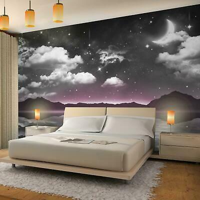 Vlies Fototapete 3d Effekt Nacht Himmel Mond Tapete Wandbild Xxl Schlafzimmer Fototapete Schlafzimmer Tapeten Wandbilder Wandbilder Schlafzimmer