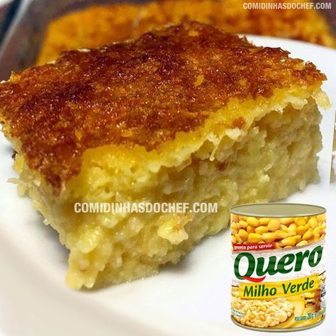Bolo De Milho De Lata Recipe Brazilian Food Food And Drink Food