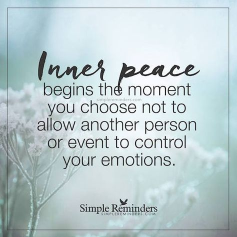 Inner peace begins the moment you choose not to allow another person or event to control your emotions. Inner peace begins the moment you choose not to allow another person or event to control your emotions. Wisdom Quotes, Quotes To Live By, Me Quotes, Motivational Quotes, Inspirational Quotes, Quotes About Peace, Inner Peace Quotes, Peace Of Mind Quotes, Compassion Quotes