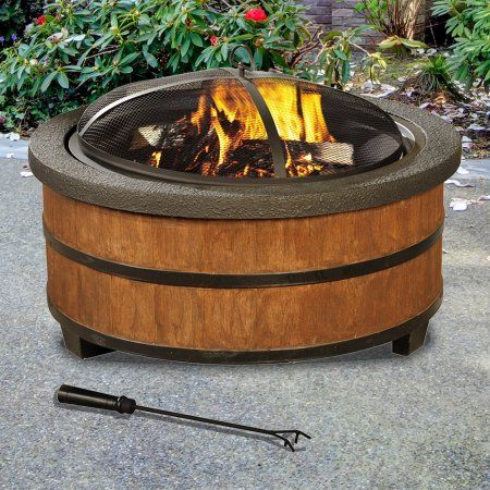 Patio Garden Wood Burning Fire Pit Steel Fire Pit Propane Fire Pit Table