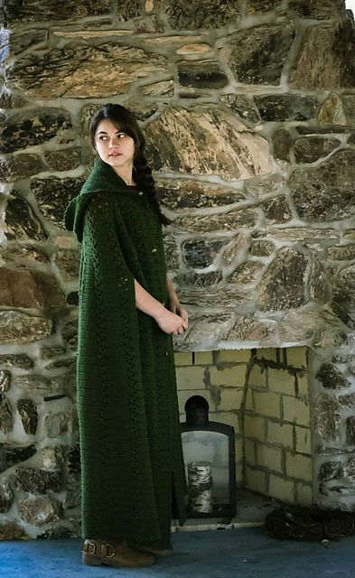 Long Hooded Cape Pattern By Maggie Weldon Knit And Crochet
