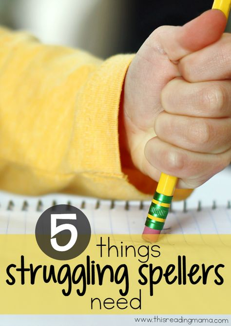 5 Things Struggling Spellers Need - This Reading Mama