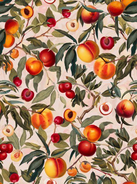 Vintage Fruit Pattern XXIII by Burcu Korkmazyurek