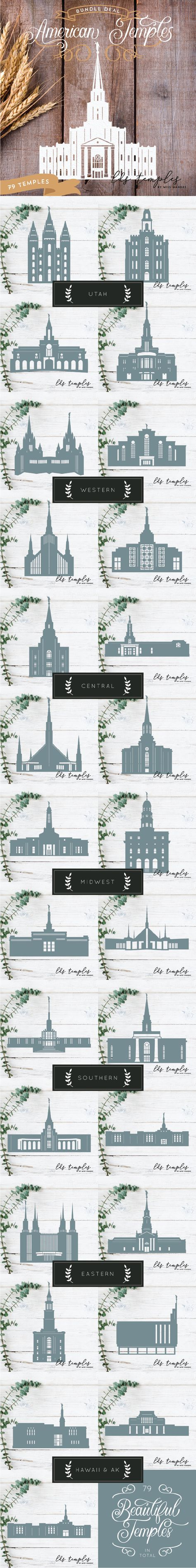 small resolution of american temple bundle 81 us lds temple cut files digital download svg