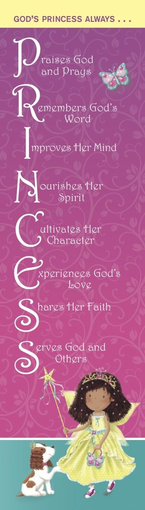 A princess bookmark lets girls and parents know what they will gain from daily devotions with The One Year My Princess Devotions.
