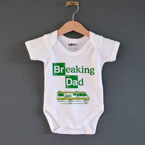 BREAKING DAD FUNNY BREAKING BAD THEME BABYGROW BABY GROW ALL SIZES   NEW