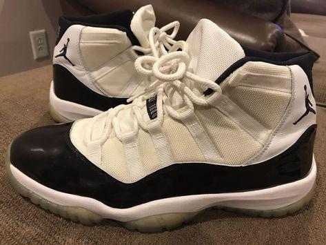 huge discount abadb 5f16c eBay  Sponsored Nike Air Jordan 11 Retro White Dark Concord Size 13 2000  136046 101 Authentic