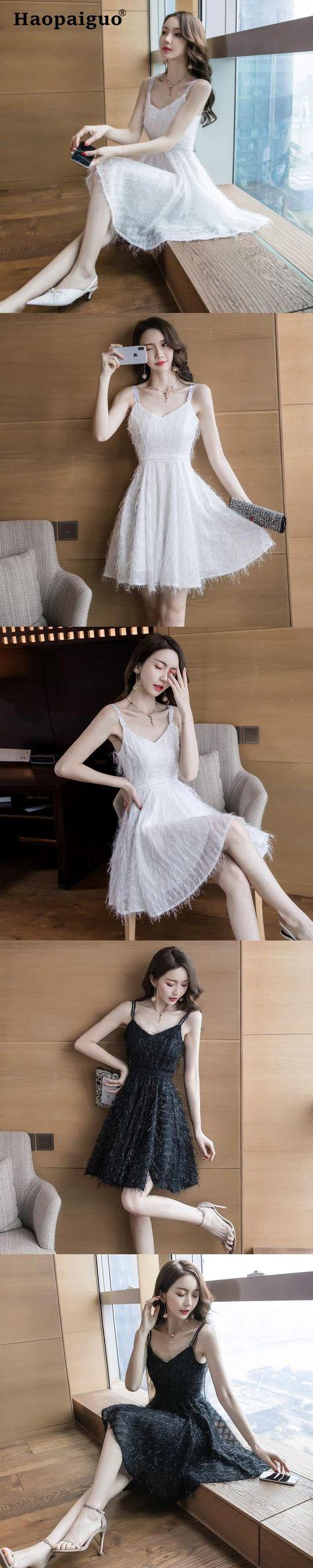 aff79a02b6db Plus Size Big Swing Sexy Party Dress Women Spaghetti Strap White Club  Dresses Ladies with Tassel