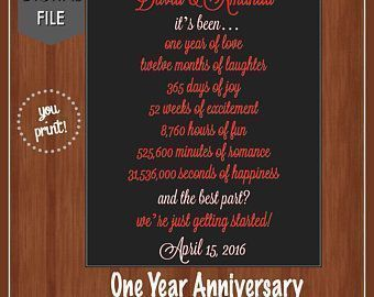 First Anniversary Together 1 Year Anniversary Gift For Boyfriend Girlfriend D In 2020 Year Anniversary Gifts Boyfriend Anniversary Gifts 1 Year Anniversary Gifts