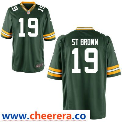 new products 09d75 07c3f Men's Green Bay Packers #19 Equanimeous St. Brown Green Team ...