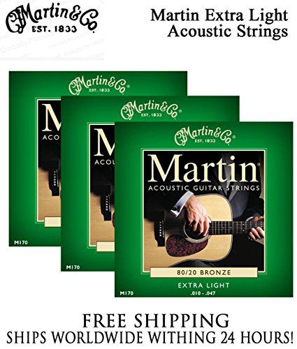 Sets Martin M170 Acoustic Guitar Strings Extra Light 8020 Bronze More Info Could Be Found At The Im Acoustic Guitar Strings Guitar Strings Acoustic Guitar