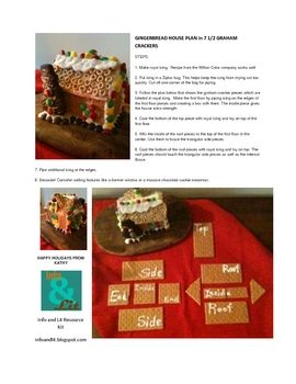 gingerbread house free download from TpT from 7 1/2 graham crackers