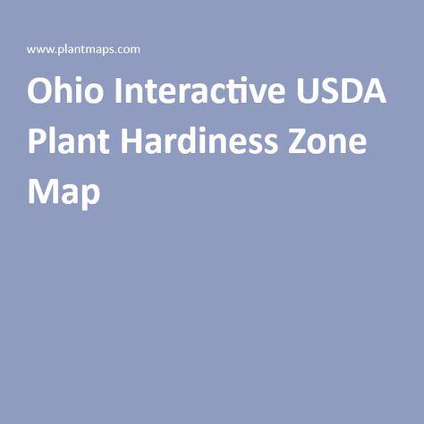 Ohio Interactive Usda Plant Hardiness Zone Map Columbus Is Zone