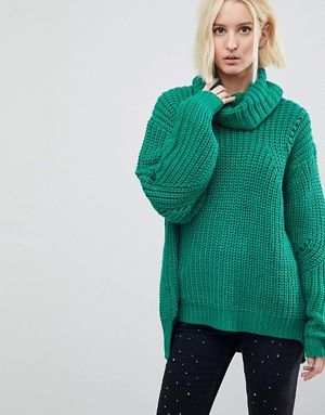 River Island Chunky Cable Knit Neck Jumper | Jumpers for