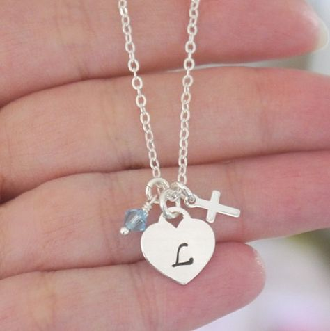8fb8c3fea Baptism Necklace Baptism Gifts Godchild Tiffany by MadiesCharms, $27.95