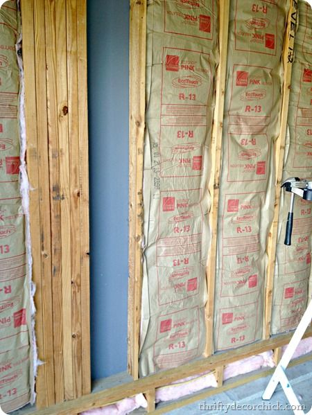 Insulatin And Drywallin With Images Insulating Basement Walls Diy Insulation Installing Insulation