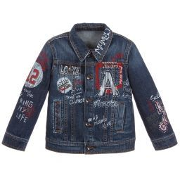 Dolce Gabbana Boys Painted Denim Jacket Childrensalon Denim Jacket Painted Denim Jacket Jackets