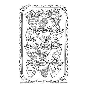 Chocolate Covered Strawberries Coloring Page Most Every Year For