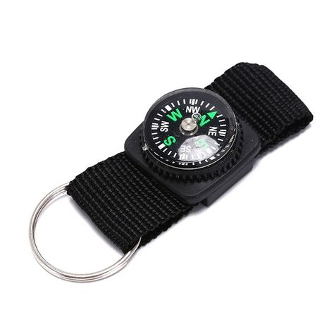 Multifunction Camping Mini Carabiner w Keychain Thermometer Key 3 in 1