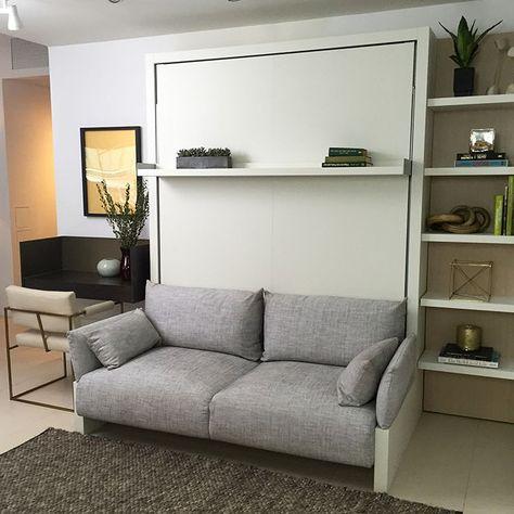 Space Sofa Armoire Lit Escamotable 160 X 200 Cm Canape Integre Lit Escamotable Lit Escamotable Canape Et Canape Integre