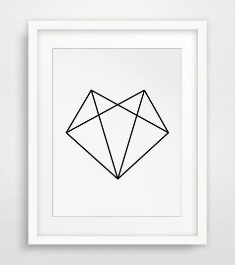 coolTop Geometric Tattoo - Heart...