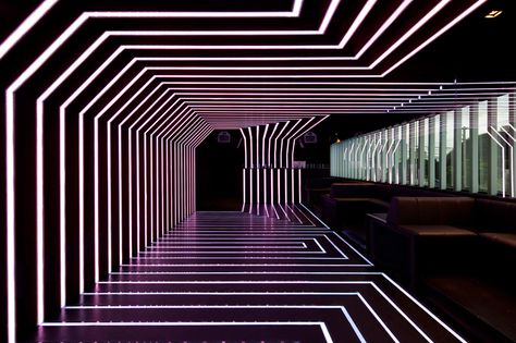 D.EDGE — night club with a crazy neon light show. Remember, night life just gets…