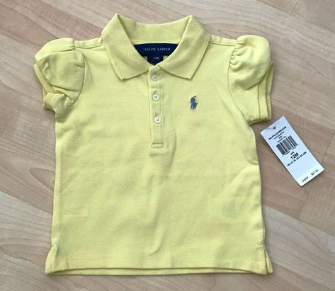 NWT Ralph Lauren Classic Pony Polo T Shirt Girls Toddler