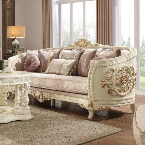Traditional Sofa In Beige Fabric Traditional Style Homey Design Hd 2011 Sofa And Loveseat Set Furniture Sofa Set Traditional Sofa
