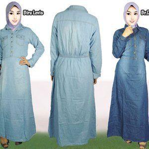 Model Baju Gamis Levis Terbaru Model Baju Muslim Levis